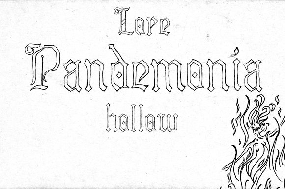 Print on Demand: Lore Pandemonia Hollow Blackletter Font By Dawnland