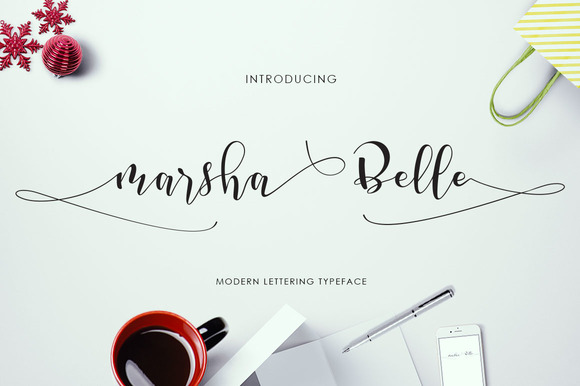 Print on Demand: Marsha Belle Script Script & Handwritten Font By Tegaki