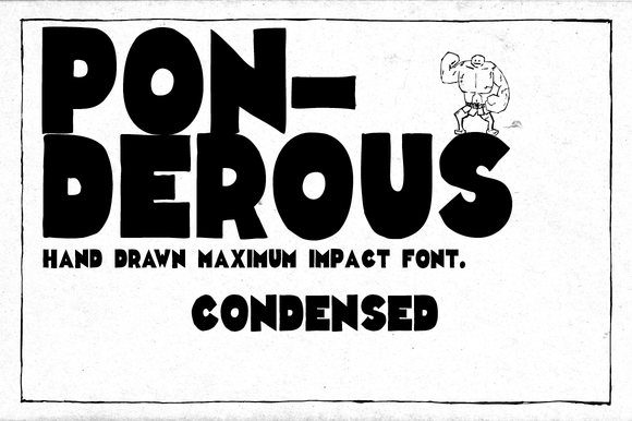 Print on Demand: Ponderous Condensed Display Font By Dawnland