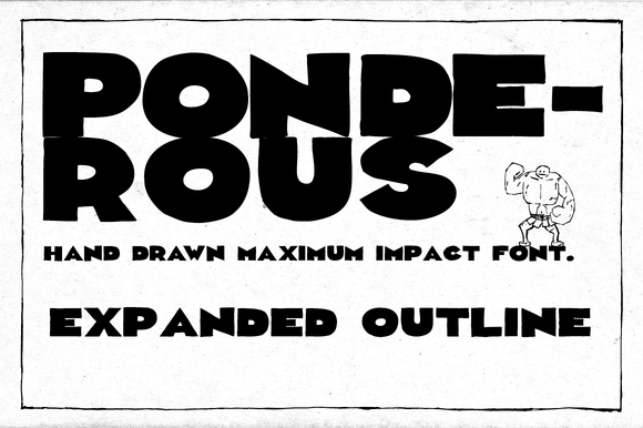 Print on Demand: Ponderous Expanded Display Font By Dawnland