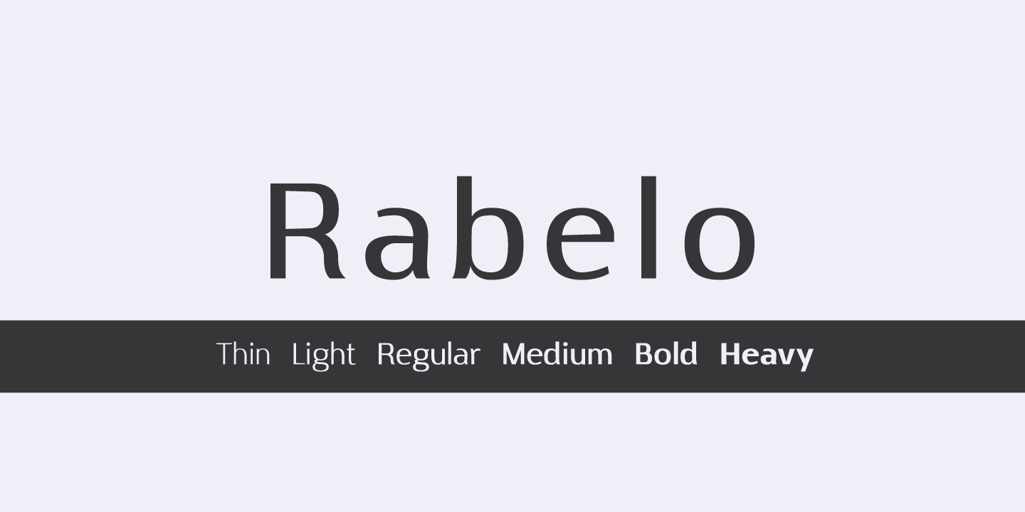 Print on Demand: Rabelo Light Sans Serif Font By Pedro Alexandre Teixeira