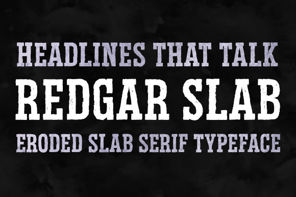 Print on Demand: Redgar Slab Slab Serif Font By Graphite