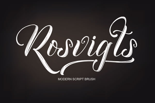 Print on Demand: Rosvigts Brush Script & Handwritten Font By Moriztype - Image 1