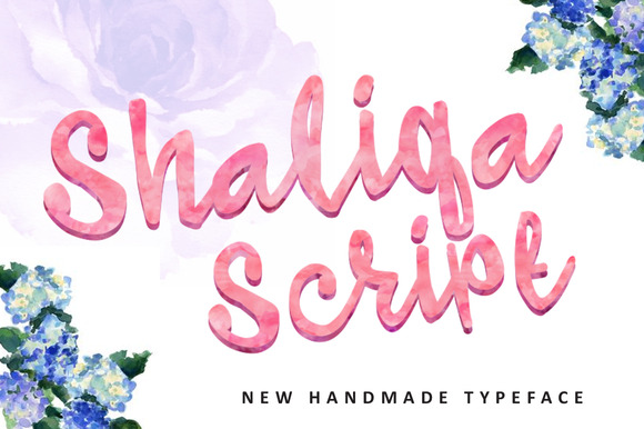 Print on Demand: Shaliqa Script Script & Handwritten Font By QueenType