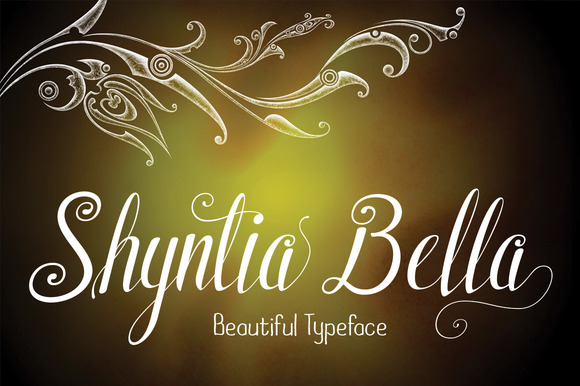 Print on Demand: Shyntia Bella Script & Handwritten Font By Royaltype