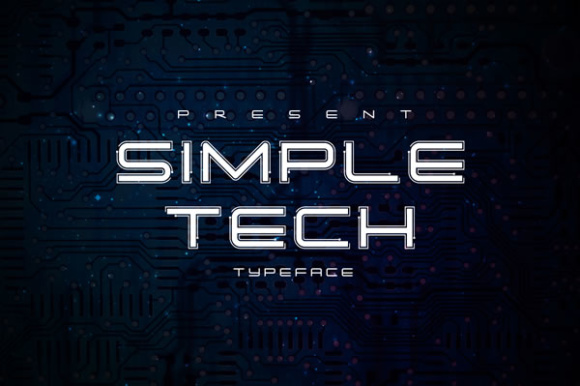 Simple Tech Font By Atjcloth Studio