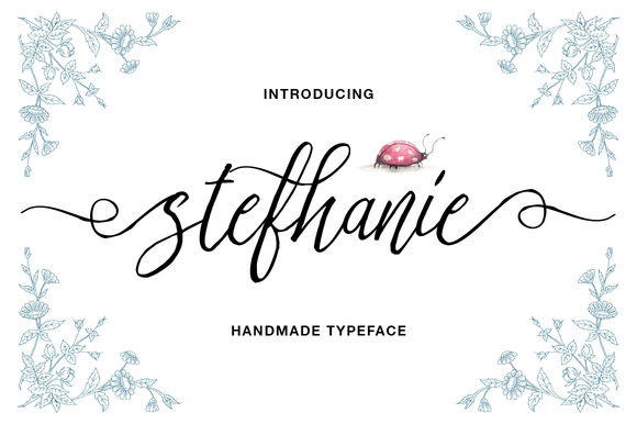 Print on Demand: Stefhanie Script & Handwritten Font By QueenType