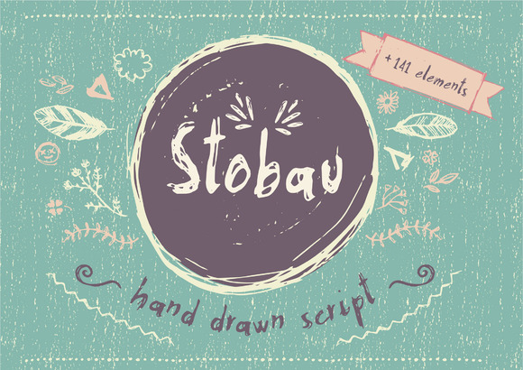 Print on Demand: Stobau Script & Handwritten Font By Silvia Porcu