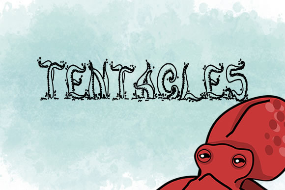 Print on Demand: Tentacles Decorative Font By jeffbensch