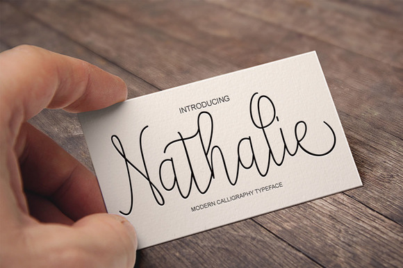 Print on Demand: Nathalie Script & Handwritten Font By Polem - Image 1
