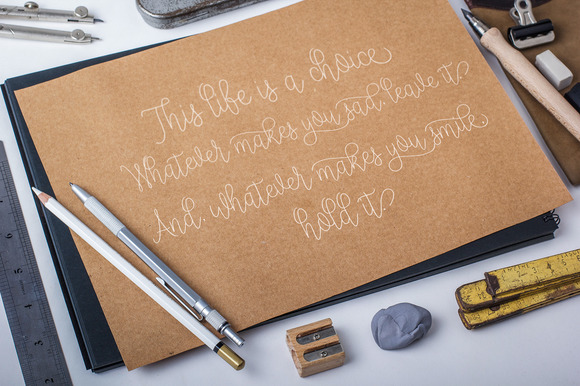 Print on Demand: Nathalie Script & Handwritten Font By Polem - Image 3