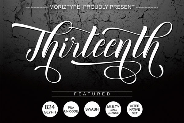Thirteenth Script Font By Moriztype Image 1