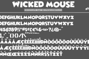 Print on Demand: Wicked Mouse Display Font By Sharkshock 3