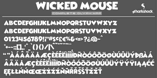 Wicked Mouse Font Item