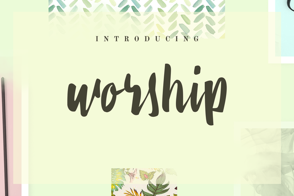 Print on Demand: Worship Script & Handwritten Font By Ease Type