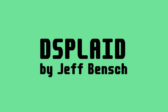 Print on Demand: Dsplaid Display Font By jeffbensch