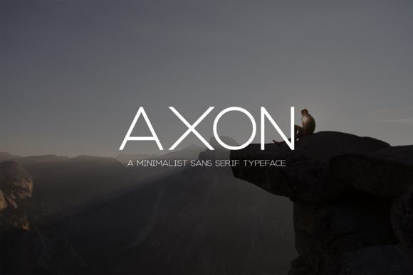 Print on Demand: Axon Minimalist Sans Serif Font By Sameeh Media