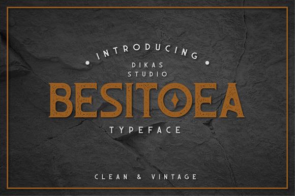 Print on Demand: Besitoea Serif Font By Dikas Studio
