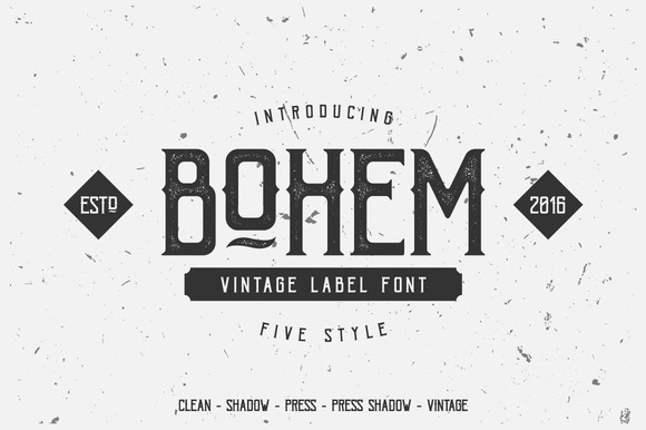 Print on Demand: Bohem Typeface Display Font By Dikas Studio