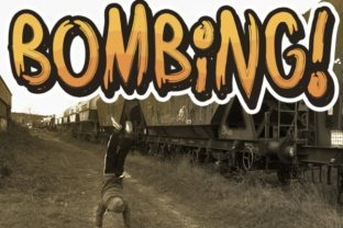 Bombing Font By Qkila