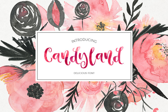 Print on Demand: Candyland Script & Handwritten Font By Favete Art