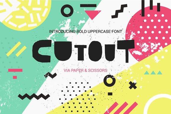 Cutout Display Font By Favete Art