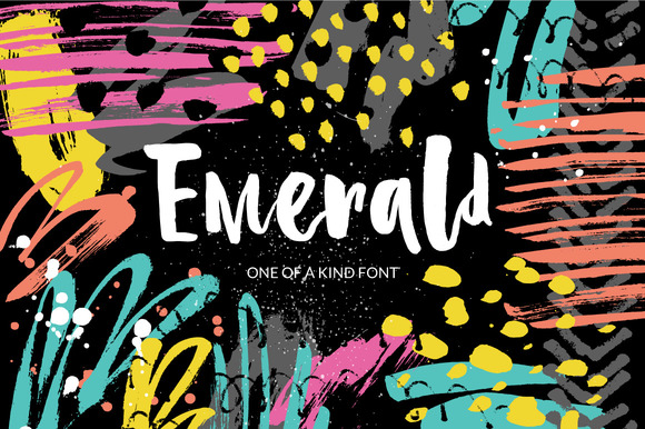 Print on Demand: Emerald Script & Handwritten Font By Favete Art
