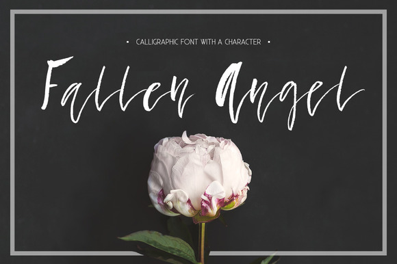 Print on Demand: Fallen Angel Script & Handwritten Font By Favete Art