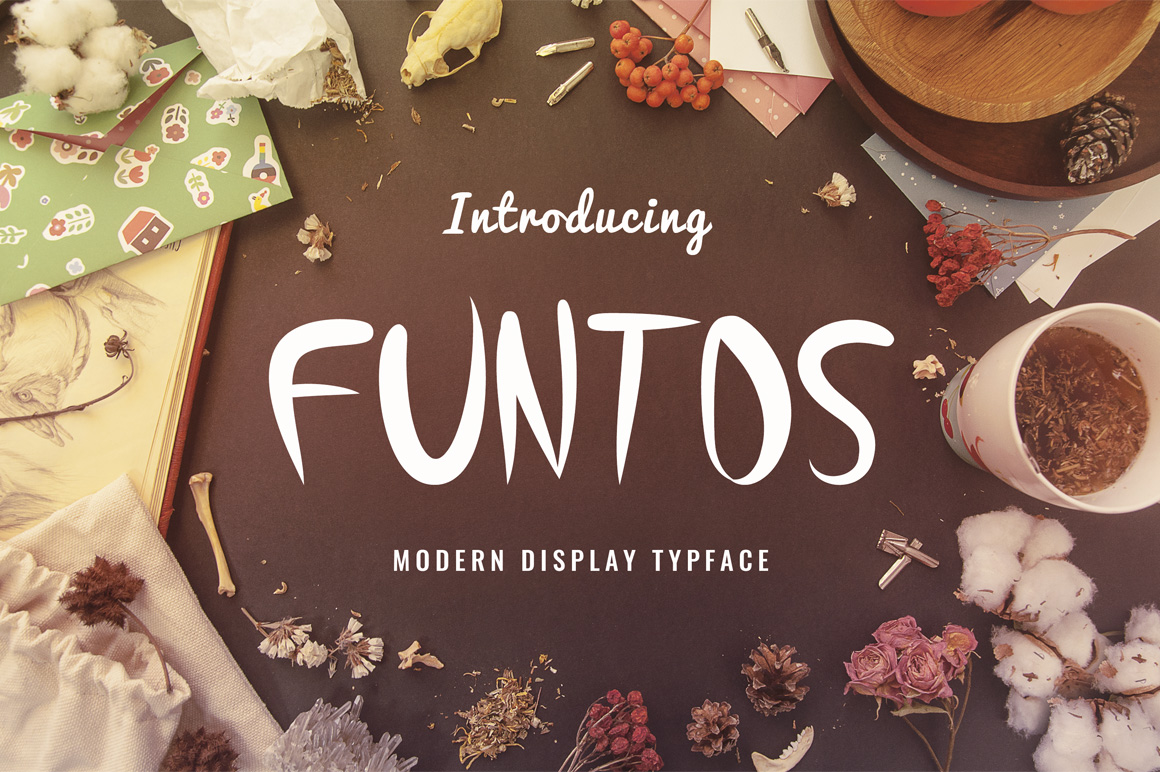 Funtos Display Font By Contour Fonts