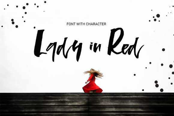Print on Demand: Lady in Red Script & Handwritten Font By Favete Art