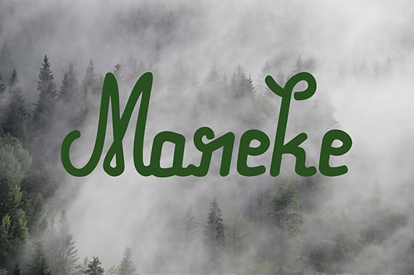 Print on Demand: Mareke Script & Handwritten Font By Milena Gajovic