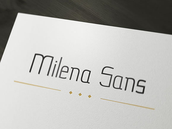 Print on Demand: Milena Sans Sans Serif Font By Milena Gajovic