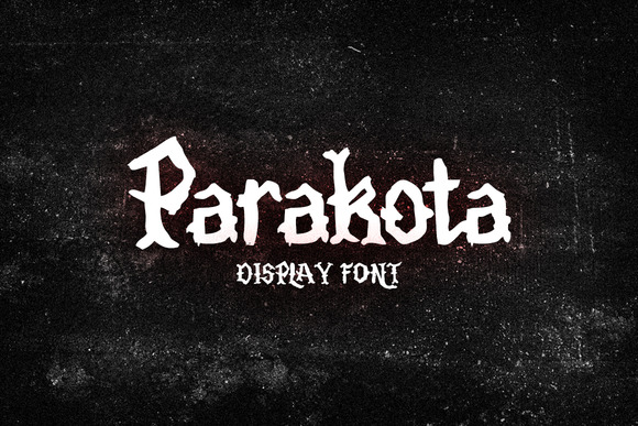 Print on Demand: Parakota Display Font By Ijem RockArt