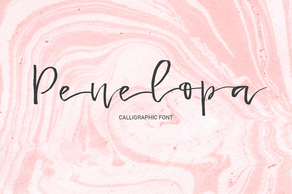 Print on Demand: Penelopa Script & Handwritten Font By Favete Art