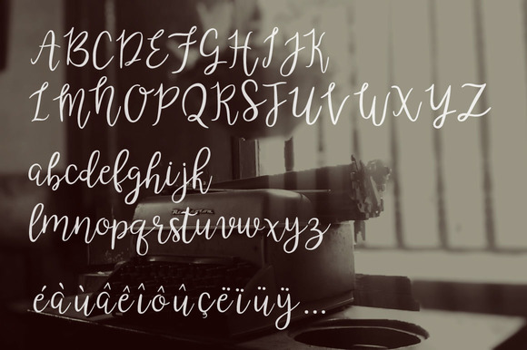 Poetry & Fiction Font Design Item