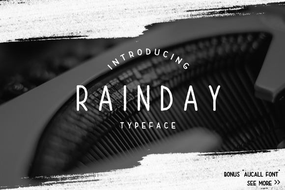 Print on Demand: Rain Day Display Font By Graphicfresh