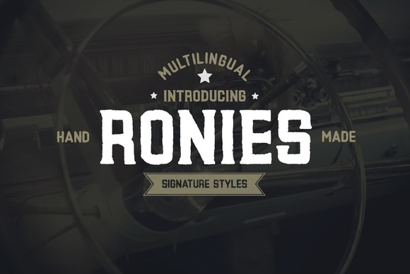 Print on Demand: Ronies Display Font By Graphicfresh