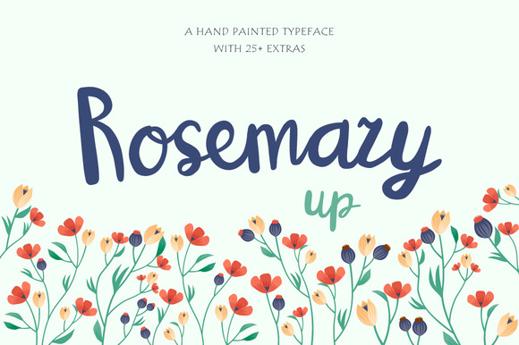 Print on Demand: RosemaryUP Script & Handwritten Font By DreamUP