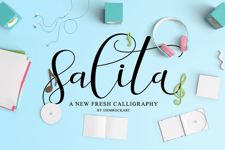 Print on Demand: Salita Script Script & Handwritten Font By Ijem RockArt