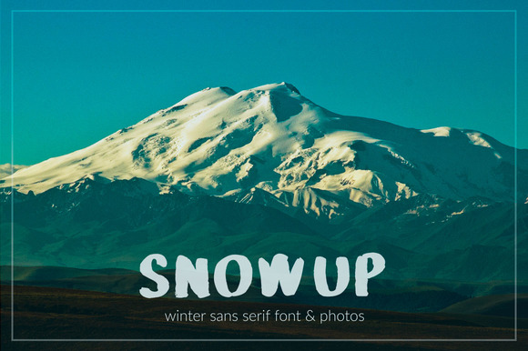 Print on Demand: SnowUP Display Font By DreamUP