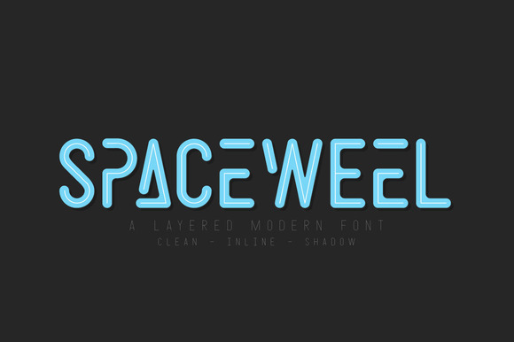 Print on Demand: Space Weel Sans Serif Font By Dikas Studio