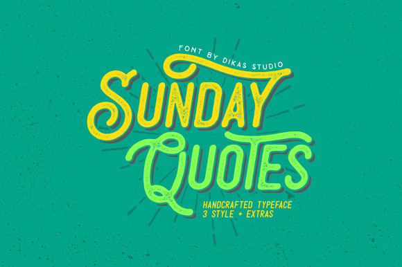 Print on Demand: Sunday Quotes Script & Handwritten Font By Dikas Studio