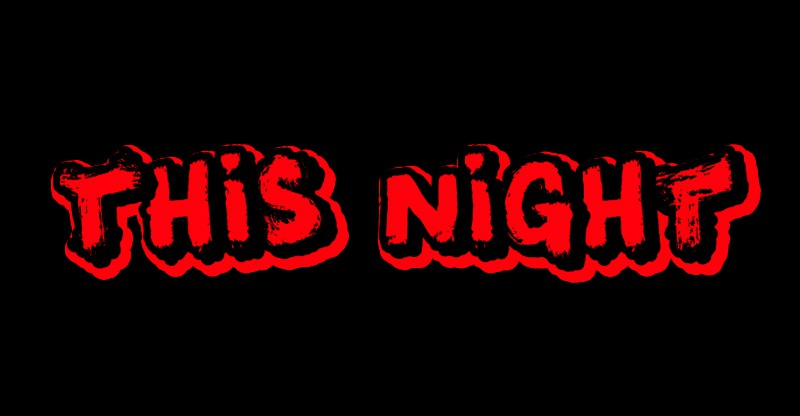 This Night Display Font By Qkila