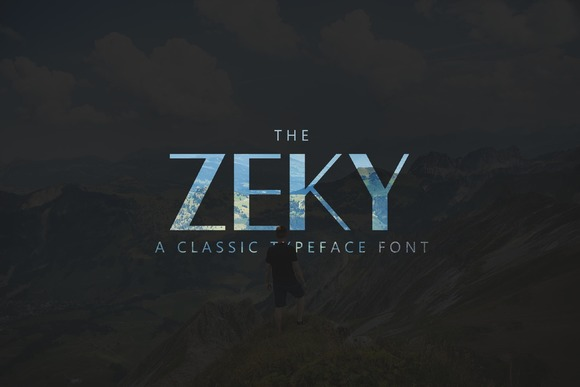 Print on Demand: Zeky Sans Serif Font By Sameeh Media