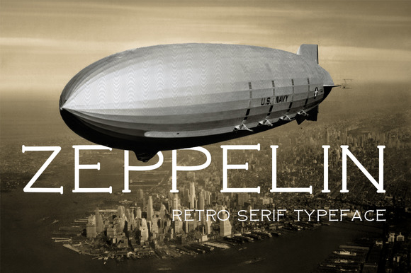 Print on Demand: Zeppelin Serif Font By DreamUP