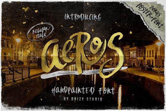 Print on Demand: Aeros Script & Handwritten Font By sandrifaqih