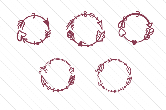 Arrow Circles Monogram Frames Monogram Frames Craft Cut File By Creative Fabrica Crafts