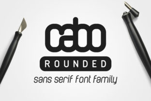 Cabo Rounded Family Font By Design A Lot