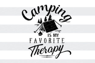 Camping is My Favorite Therapy Craft Design By BlackCatsSVG
