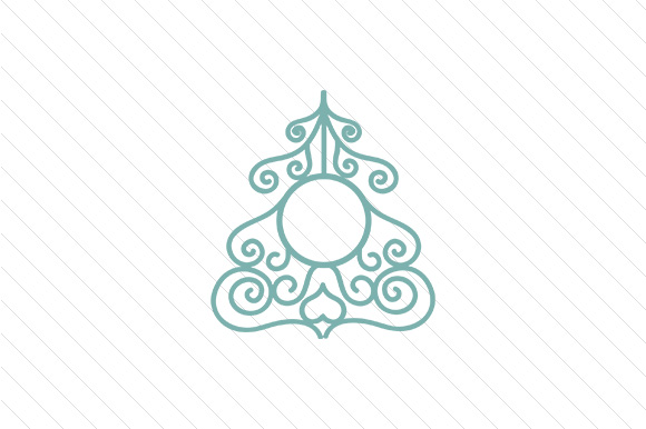 Download Free Christmas Tree Monogram Frames Svg Cut File By Creative Fabrica SVG Cut Files
